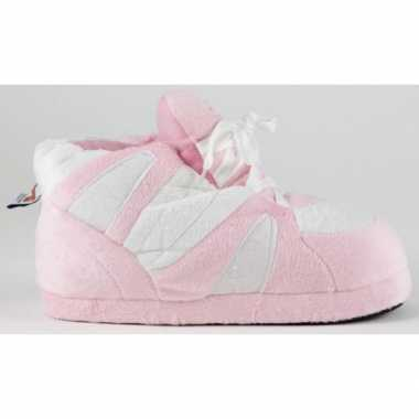 Sneaker pantoffels dames roze wit