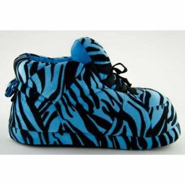 Sneaker pantoffels dames tijger blauw
