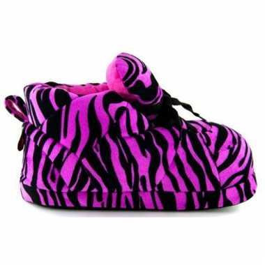 Sneaker pantoffels dames tijger roze