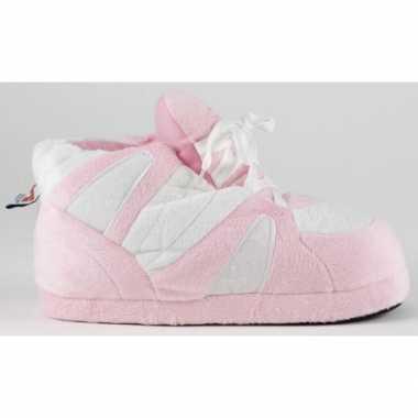 Sneaker pantoffels meisjes roze/wit