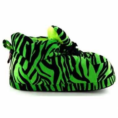 Sneaker pantoffels meisjes tijger groen