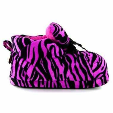 Sneaker pantoffels meisjes tijger roze