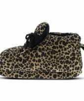 Sneaker pantoffels dames luipaard bruin