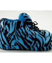 Sneaker pantoffels meisjes tijger blauw
